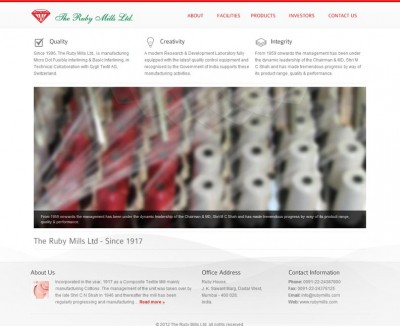 The Ruby Mills Ltd. – India