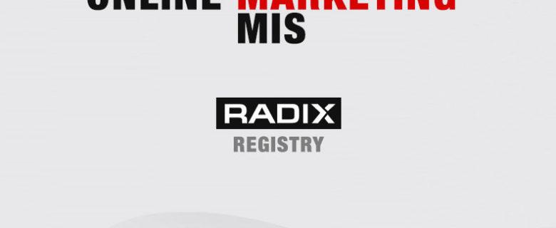 Radix Registry – Online Marketing MIS
